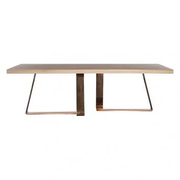 BRADLEY DINING TABLE NATURAL WITH COPPER