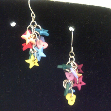 Country Stars and Hearts Earrings
