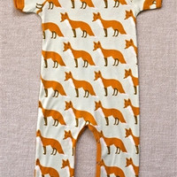 3-6 MTHS Zebi Baby Romper Orange Fox