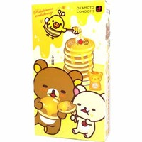 Rilakkuma Honey Condoms ~ LOVE Hot 0.02EX Hot Type