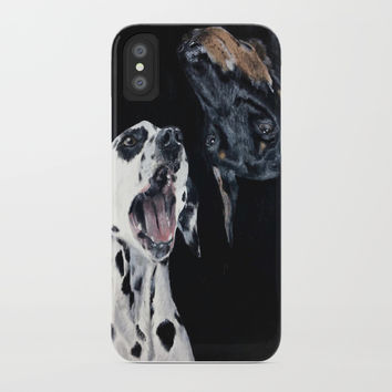 Contrasting Dogs iPhone Case by Yuval Ozery