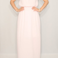 Pale pink Bridesmaid dress Chiffon dress Party dress