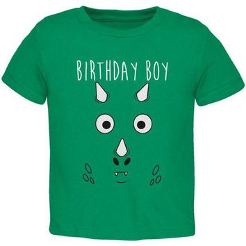 ONETOW Birthday Boy Cartoon Cute Dragon Face Toddler T Shirt