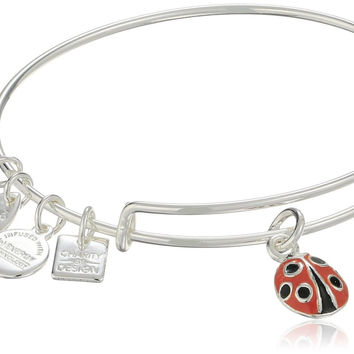 Alex and Ani Women's Charity By Design Lady Bug Bracelet Rafaelian Silver One...