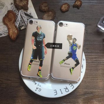 NBA Star Basketball Player Curry slam dunk phone case design for iphone 6 6s 7 5 5se 7 plus 6 plus