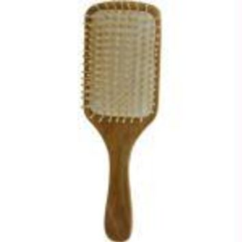 Spa Accessories Wood Bristel Hair Brush - Bamboo Paddle By Spa Accessories