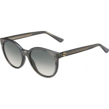ONETOW Gucci R4IDX Grey-bronze 3820S Round Sunglasses Lens Category 2 Lens Mirrored