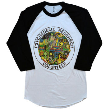 Psychedelic Research Volunteer Baseball Shirt