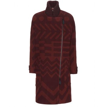 burberry brit - elmsway printed wool and cashmere-blend coat