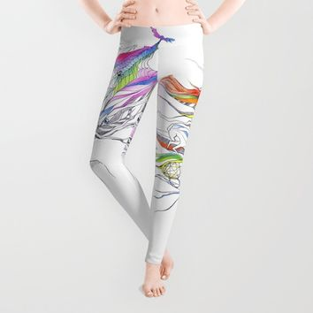 Dreams are made winding through her hair Leggings by EDrawings38