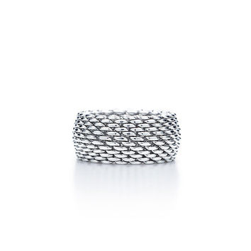 Tiffany & Co. -  Tiffany Somerset™ ring in sterling silver, wide.