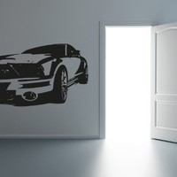 Ford Mustang Gt Shelby Cobra Anerican Muscle Wall Mural Vinyl Decal Sticker Cars R027
