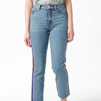 Moluna sporty stripe - Country blue - Jeans - Monki GB