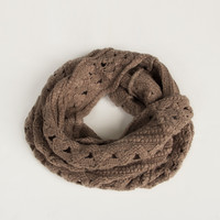 Lightweight Tube Triangle Knit Scarf - Taupe