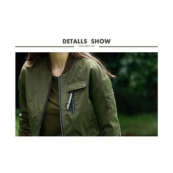 Women This Is Me Military Bomber Jacket