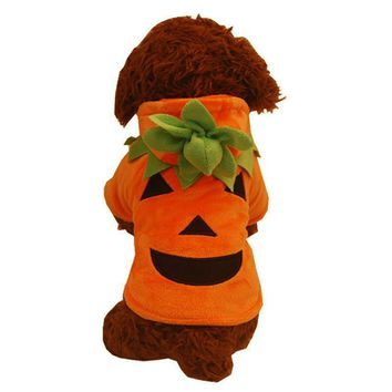Funny Halloween Pumpkin Puppy Pet Clothes Fancy Cosplay Costume Halloween Party Christmas Gift