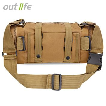 Outlife 6L Multifunctional Tactical Waist Bag Molle Pack Military Rucksack For Hiking Camping Trekking
