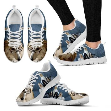 Afghan Hound Dog Running Shoes For Women-Free Shipping