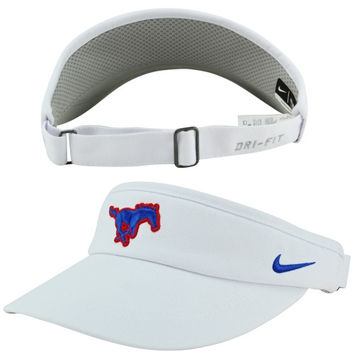 SMU Mustangs Nike Sideline Dri-FIT Adjustable Performance Visor – White