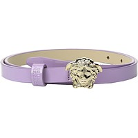 Versace Kids Girl's Medusa Buckle Belt (Big Kids) Lilac Belt