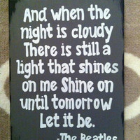 The Beatles. Let it be. Lyrics. 9 x 12 inch canvas. Song lyrics.