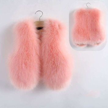 Girls Faux Fur Fashion Vest