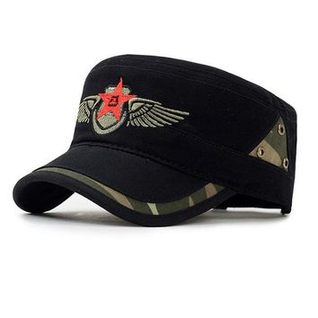 Star and Wing Embroided Military Cap