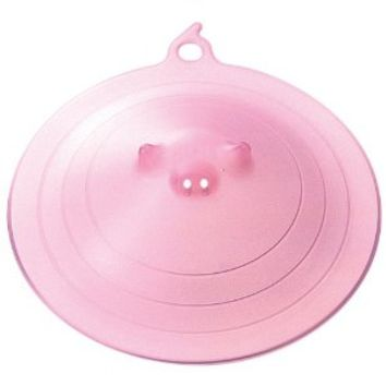 Marna Pink Piggy Microwave Plate Cover, 8.74""