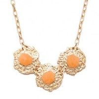 Gold Rush Necklace in Peach - ShopSosie.com