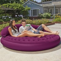 Inflatable Purple Indoor/Outdoor Detachable Backrest Circle Daybed Lounge