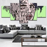 Modular 5 Piece Canvas Art Lil Peep Poster Modern Decorative  Canvas Wall Art