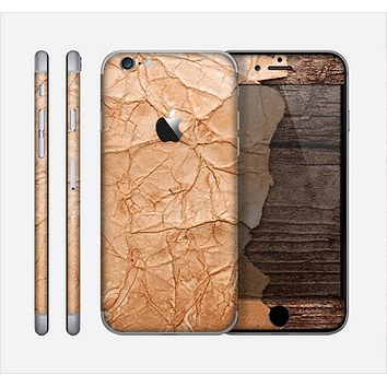 The Vintage Paper-Wrapped Wood Planks Skin for the Apple iPhone 6
