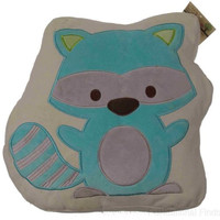 Studio BGD Raccoon Decorative Pillow Cream Blue 14in Bedroom Throw Stuffed Decor