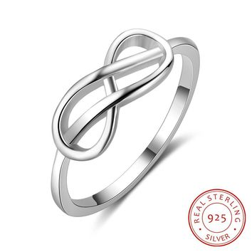 Infinity Shape 925 Sterling Silver Rings For Women Fashion Wedding Engagement Jewelry Accessories Jewelry Gift (RI103506)