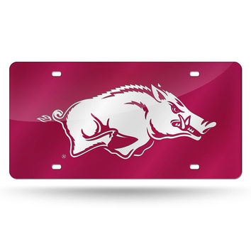 Arkansas Razorbacks NCAA Laser Cut License Plate Cover Colored