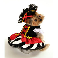 Pirate Girl Dog Costume - Medium