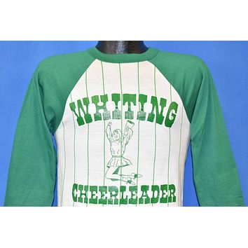 80s Whiting Cheerleader Pinstripe t-shirt Small