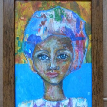 Paint Palette Polly 3 - mixed media print