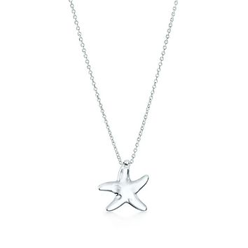 Tiffany & Co. -  Elsa Peretti® Starfish pendant of rock crystal and sterling silver.