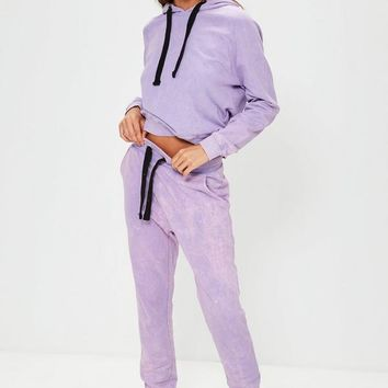 Missguided - Purple Washed Joggers