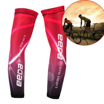 Cycling Running Volleyball UV Sun Protection Protective Arm Sleeve Bike Sport Arm Warmers Cover Football Basketball Sleeves 2Pcs