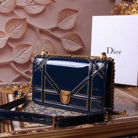 DIOR WOMEN'S LEATHER DIORAMA INCLINED SHOULDER BAG