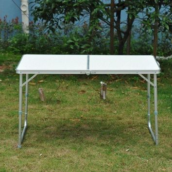 Folding Camping Picnic Table Portable Party Outdoor Garden BBQ Chairs Stools Set