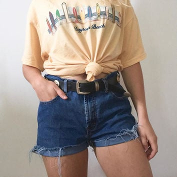 Tommy Hilfiger high waisted denim shorts
