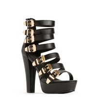 Black Multi-Buckle Shoes