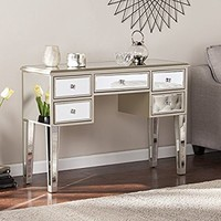 "Mirage Glam Mirrored Console/Desk - Champagne - 43"" W x 15.5"" D x 30.25"" H"