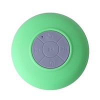 HDE Mini Wireless Rechargeable Handsfree Speakerphone Bluetooth Music Streaming Waterproof Shower Speaker + Suction Cup (Green)