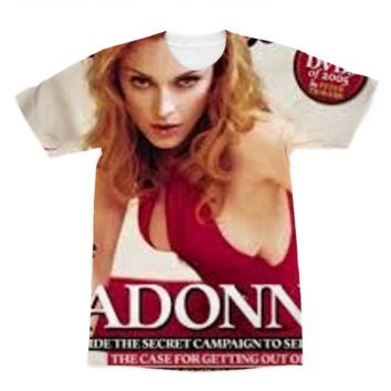 *online exclusive* madonna rolling stone cover sublimation t-shirt