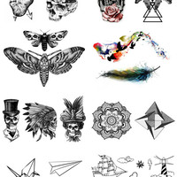 35 Temporary tattoos