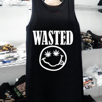 Hot Item in United Stated Region Nirvana Wasted Pot Leaf Smiley Face Tank Top, Tank Top Girls, Girls Tank Top, Women Tank Top, Men Tank Top